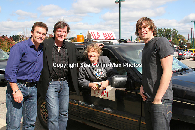 Kurt McKinney - Frank Dicopoulos - Zack Conroy pose on October 1, 2009 in the Pittsburgh, PA as the actors visit many of the Panera Bread locations. Proceeds from pink ribbon bagel sales will benefit the Young Women's Breast Cancer Awareness Foundation. (Photo by Sue Coflin/Max Photos)