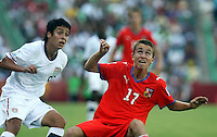 Action photo o Dominik Masek  (R) of the Czech Republic, during game of the FIFA Under 17 World Cup game, held at  Torreon