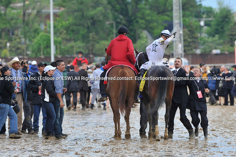 May 1 2010: Super Saver with Calvin Borel up wins the G1 Kentucky Derby at Churchill Downs in Louisville, Kentucky.