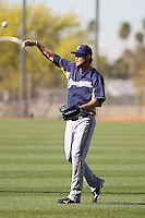 Corey Hart #1 of the Milwaukee Brewers participates in spring training workouts at the Brewers complex on April 2, 2011 in Phoenix, Arizona. .Photo by:  Bill Mitchell/Four Seam Images.