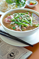 Traditional Vietnamese soup Pho from A Saigon Cafe, Wailuku, Maui, Hawaii