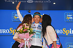 Miguel Angel Lopez Moreno (COL) Astana Pro Team retains the young riders Maglia Bianca at the end of Stage 20 of the 2019 Giro d'Italia, running 194km from Feltre to Croce d'Aune-Monte Avena, Italy. 1st June 2019<br /> Picture: Gian Mattia D'Alberto/LaPresse | Cyclefile<br /> <br /> All photos usage must carry mandatory copyright credit (© Cyclefile | Gian Mattia D'Alberto/LaPresse)