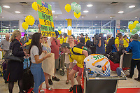 Welcome home - Sydney airport / Patrick Jensen<br /> PyeongChang 2018 Paralympic Games<br /> Australian Paralympic Committee<br /> Sydney International Airport<br /> PyeongChang South Korea<br /> Tuesday March 20th 2018<br /> © Sport the library / Jeff Crow
