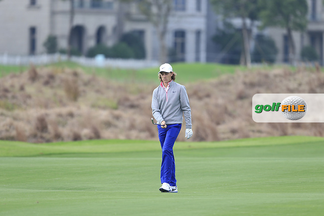 Tommy Fleetwood (ENG) on the 15th fairway during the Pro-Am for the BMW Masters at Lake Malaren Golf Club in Boshan, Shanghai, China on Wednesday 11/11/15.<br /> Picture: Thos Caffrey | Golffile