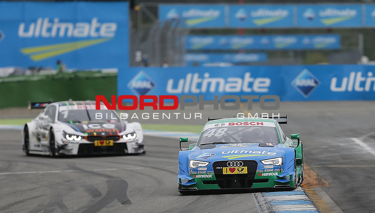 DTM 2015, 01.Lauf Hockenheimring, 01.05. - 03.05.15 <br /> Edoardo Mortara (ITA#48) Audi Sport Team Abt Audi RS 5 DTM , Marco Wittmann (DEU#1) BMW Team RMG BMW M4 DTM <br /> <br /> <br /> <br /> Foto &copy; nordphoto /  Bratic