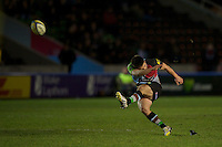 Ben Botica of Harlequins 'A' takes a penalty kick during the Aviva Premiership A League Final between Harlequins A and Saracens Storm at the Twickenham Stoop on Monday 17th December 2012 (Photo by Rob Munro)