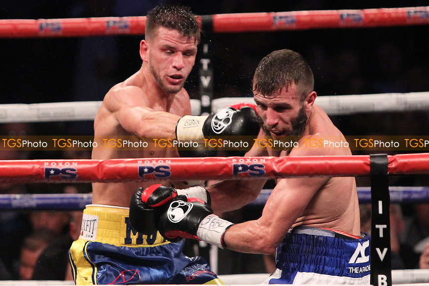 Martin Joseph Ward vs Anthony Cacace during a Boxing Show at the SSE Arena, Wembley on 15th July 2017