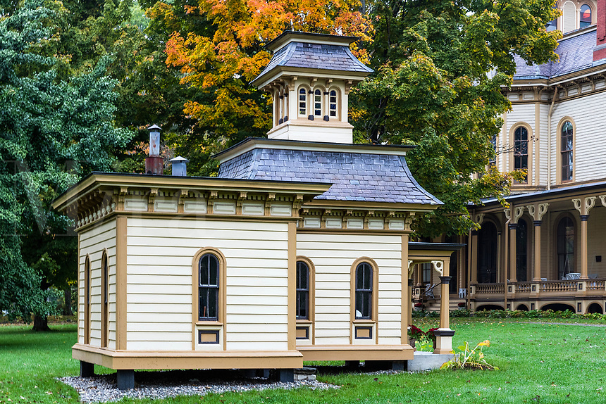 Playhouse at the Park-McCullough Mansion estate, Bennington, Vermont, USA.