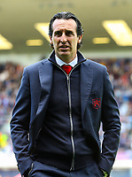 Arsenal manager Unai Emery<br /> <br /> Photographer Alex Dodd/CameraSport<br /> <br /> The Premier League - Burnley v Arsenal - Sunday 12th May 2019 - Turf Moor - Burnley<br /> <br /> World Copyright © 2019 CameraSport. All rights reserved. 43 Linden Ave. Countesthorpe. Leicester. England. LE8 5PG - Tel: +44 (0) 116 277 4147 - admin@camerasport.com - www.camerasport.com