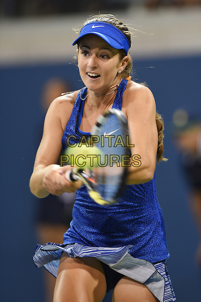 FLUSHING NY- AUGUST 28: Catherine Bellis Vs Zarina Diyas at the USTA Billie Jean King National Tennis Center on August 28, 2014 inFlushing Queens. <br /> CAP/MPI/mpi04<br /> &copy;mpi04/MediaPunch/Capital Pictures