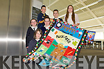 ART EXPO: The pupils of Fybough NS, Keel who participate in Revelation a visual exposition of creativity and innovation in Kerry school communities at IT Tralee on Friday front l-r: Kelly O'Shea. Centre l-r: Laura Benson and Marie Galvin. Back l-r: Dean Ladden, Eoin Foley and Dora Wynne Morgan.