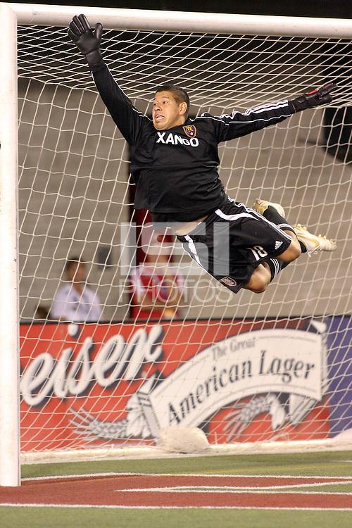 Nick Rimando in the COL @ Real Salt Lake 2-0  Real Salt Lake win at Rice Eccles Stadium in Salt Lake City, Utah on August 29, 2008