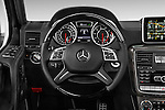 Car pictures of steering wheel view of a 2016 Mercedes Benz G-Class AMG-G63 5 Door SUV Steering Wheel