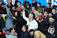 Swansea City Fans during the Sky Bet Championship match between Cardiff City and Swansea City at the Cardiff City Stadium in Cardiff, Wales, UK. Sunday 12 January 2020