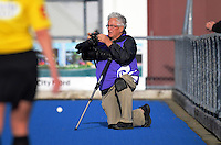 Photographer John Velvin at the international women's hockey match between the New Zealand Black Sticks and Malaysia at TET Stadium, Stratford, New Zealand on Thursday, 15 December 2016. Photo: Dave Lintott / lintottphoto.co.nz