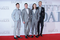 www.acepixs.com<br /> <br /> February 9 2017, London<br /> <br /> Collabro arriving at the UK Premiere of 'Fifty Shades Darker' at the Odeon Leicester Square on February 9, 2017 in London, United Kingdom. <br /> <br /> By Line: Famous/ACE Pictures<br /> <br /> <br /> ACE Pictures Inc<br /> Tel: 6467670430<br /> Email: info@acepixs.com<br /> www.acepixs.com