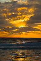 Magnificent sunset at Santa Maria Island in Florida.