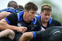 Paul Grant and other Bath Rugby forwards in action at a maul. Bath Rugby pre-season training session on July 28, 2017 at Farleigh House in Bath, England. Photo by: Patrick Khachfe / Onside Images