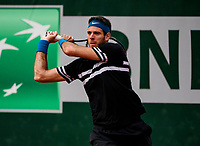 JUAN MARTIN DEL POTRO (ARG)<br /> <br /> TENNIS - FRENCH OPEN - ROLAND GARROS - ATP - WTA - ITF - GRAND SLAM - CHAMPIONSHIPS - PARIS - FRANCE - 2018  <br /> <br /> <br /> <br /> &copy; TENNIS PHOTO NETWORK
