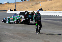 Jul. 27, 2014; Sonoma, CA, USA; NHRA funny car driver John Force at the Sonoma Nationals at Sonoma Raceway. Mandatory Credit: Mark J. Rebilas-