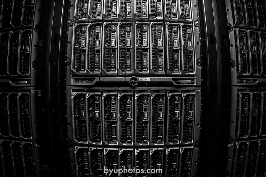 1706-16 Supercomputer 0007<br /> <br /> 1706-16 Supercomputer<br /> <br /> The SuperComputer in the Talmage building.<br /> <br /> June 7, 2017<br /> <br /> Photography by Nate Edwards/BYU<br /> <br /> © BYU PHOTO 2017<br /> All Rights Reserved<br /> photo@byu.edu  (801)422-7322