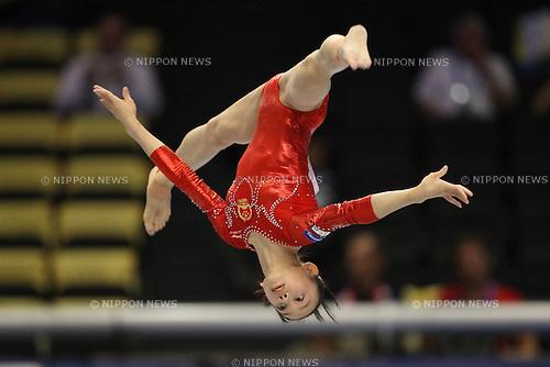 Tan Sixin (CHN), ..OCTOBER 8, 2011 - Artistic Gymnastics : ..2011 World Artistic Gymnastics Championships ..Women's Qualification ..at Tokyo Metropolitan Gymnasium, Tokyo, Japan. ..(Photo by YUTAKA/AFLO SPORT) [1040]