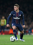 PSG's Marcoo Verratti in action during the Champions League group A match at the Emirates Stadium, London. Picture date November 23rd, 2016 Pic David Klein/Sportimage