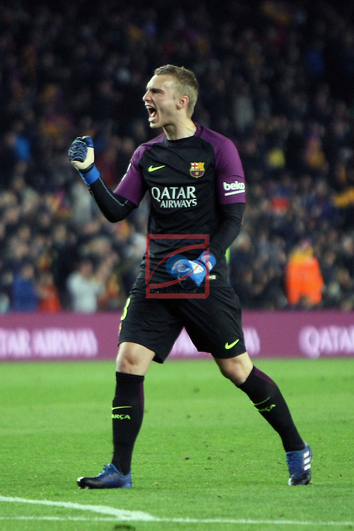 Copa del Rey 2016/2017 - Semifinal vuelta.<br /> FC Barcelona vs Atletico Madrid: 1-1.<br /> Cillessen.
