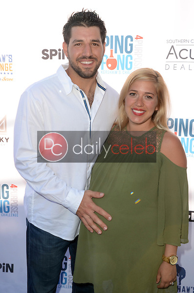 Rob Seged, Robin Seged<br /> at Clayton Kershaw's Ping Pong 4 Purpose Celebrity Tournament to Benefit Kershaw's Challenge, Dodger Stadium, Los Angeles, CA 08-11-16<br /> David Edwards/DailyCeleb.com 818-249-4998