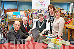 Tralee Library launched an online booking system to mark World Book Day last week. .L-R John Breen, Tommy O'Connor, Cllr Terry O'Brien, Marita Corcoran and Noirin O'Keeffe.