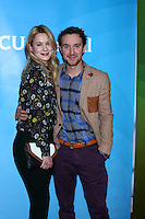 LOS ANGELES - JAN 7:  Kristen Hager, Sam Huntington attends the NBCUniversal 2013 TCA Winter Press Tour at Langham Huntington Hotel on January 7, 2013 in Pasadena, CA