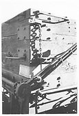 Corner detail of D&amp;RGW drop-bottom gondola showing operating mechanism.<br /> D&amp;RGW    ca 1972