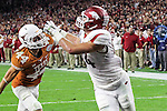 Arkansas Razorbacks tight end Hunter Henry (84) in action during the Advocare V100 Texas Bowl game between the Arkansas Razorbacks and the Texas Longhorns at the NRG Stadium in Houston, Texas. Arkansas defeats Texas 31 to 7.