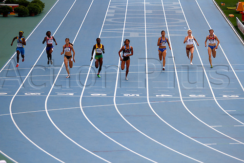 12.07.2012.  Barcelona, Spain. 200 Metres Women in action during day three of the IAAF World Junior Championships from the Montjuic Olympic Stadium in Barcelona.