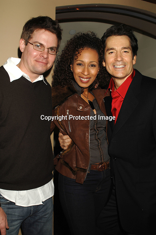 "Trent Dawson, Tamara Tunie and Jeff Meek..at The P & G Christmas Party with cast memebers from ""As The World Turns"" and ""Guiding Light"" ..on December 6, 2006 at Providence in New York. ..Robin Platzer, Twin Images"