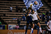 Seattle, WA - April 15th, 2017: Beverly Yanez and Erica Skroski during a regular season National Women's Soccer League (NWSL) match between the Seattle Reign FC and Sky Blue FC at Memorial Stadium.