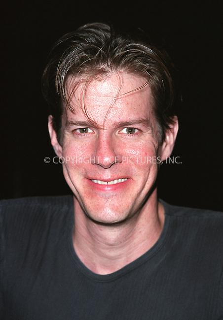 "Rick Holmes who plays Clifford Bradshaw in ""Cabaret"" pictured at Studio 54. August 2002. Please byline: Alecsey Boldeskul/NY Photo Press.   ..*PAY-PER-USE*      ....NY Photo Press:  ..phone (646) 267-6913;   ..e-mail: info@nyphotopress.com"