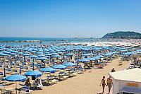Italy, Emilia-Romagna, Cattolica: popular beach resort located on the Adriatic Sea, south of Rimini | Italien, Emilia-Romagna, Cattolica: beliebter Badeort an der Adria, suedlich von Rimini