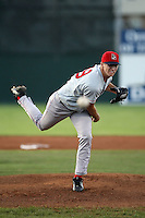 September 11 2008:  Pitcher Bryan Price of the Lowell Spinners, Class-A affiliate of the Boston Red Sox, during a game at Dwyer Stadium in Batavia, NY.  Photo by:  Mike Janes/Four Seam Images