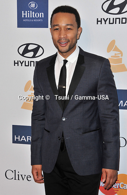 John Legend   at Clive Davis Pre Grammy Party at the Hilton Hotel In Los Angeles.