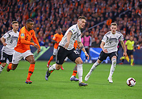 Niklas Süle (Deutschland Germany) gegen Georginio Wijnaldum (Niederlande) - 24.03.2019: Niederlande vs. Deutschland, EM-Qualifikation, Amsterdam Arena, DISCLAIMER: DFB regulations prohibit any use of photographs as image sequences and/or quasi-video.