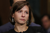 WASHINGTON, DC - SEPTEMBER 27:  Ashley Kavanaugh listens to her husband, Judge Brett Kavanaugh testify before the Senate Judiciary Committee during his Supreme Court confirmation hearing in the Dirksen Senate Office Building on Capitol Hill September 27, 2018 in Washington, DC. Kavanaugh was called back to testify about claims by Christine Blasey Ford, who has accused him of sexually assaulting her during a party in 1982 when they were high school students in suburban Maryland.  (Photo by Win McNamee/Getty Images)