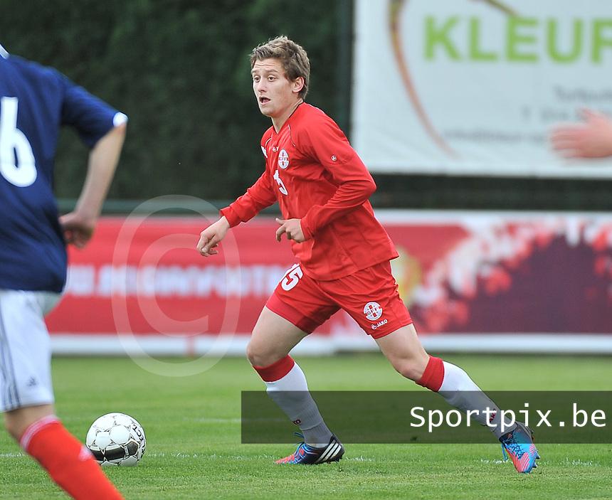 Scotland U19 - Georgia U19 : Dachi Tsnobiladze.foto DAVID CATRY / Nikonpro.be
