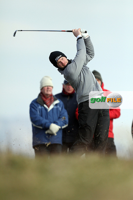 Gary McDermot (Co.Sligo) on the 11th during Monday's Quarter Final of the Matchplay at the West of Ireland Amateur Open Golf Championship 2013 at Co.Sligo Golf Club, Rosses Point, Co.Sligo. 1/04/2013...(Photo Jenny Matthews/www.golffile.ie)