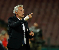Roberto Donadoni  during the  italian serie a soccer match,between SSC Napoli and   Bologna FC    at  the San  Paolo   stadium in Naples  Italy , September 18, 2016