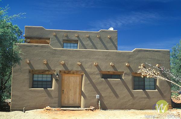 Pueblo style home, Sedona, Arizona