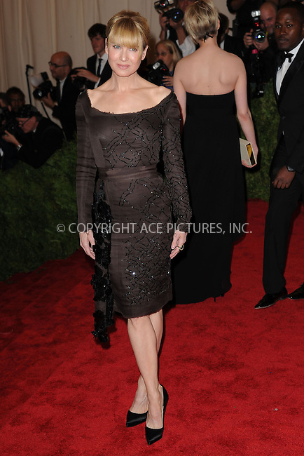 WWW.ACEPIXS.COM . . . . . .May 6, 2013...New York City....Renée Zellweger attending the PUNK: Chaos to Couture Costume Institute Benefit Gala at The Metropolitan Museum of Art in New York City on May 6, 2013  in New York City ....Please byline: Kristin Callahan...ACEPIXS.COM...Ace Pictures, Inc: ..tel: (212) 243 8787 or (646) 769 0430..e-mail: info@acepixs.com..web: http://www.acepixs.com .