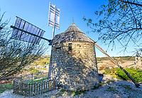 France, Tarn, Lautrec, labelled Les Plus Beaux Villages de France (The Most Beautiful Villages of France), Salette windmill // France, Tarn (81), Lautrec, labellisé Les Plus Beaux Villages de France, moulin à vent de la Salette