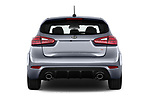 Straight rear view of 2018 KIA Forte5 SX 5 Door Hatchback Rear View  stock images