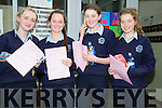 Happy with their english paper in their leaving cert on Wednesday morning were students of Presentation Secondary School, Castleisland, l-r: Katie Flynn,Michaela Breen,Elizabeth O'Connor and Marayla Donovan.